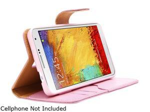 i-Blason Leather Book Pink Wallet Cover for Galaxy Note 4 Galaxy-Note4-LeatherBook-Pink