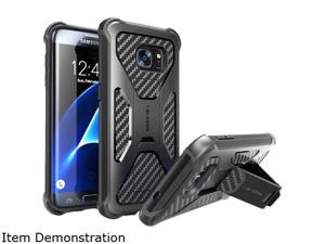 i-Blason Prime Blue Galaxy S7 Edge Dual Layer Holster Case with Kickstand and Belt Clip GalaxyS7-Edge-Prime-Blue