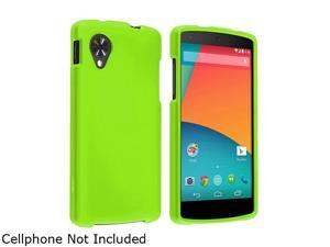 Insten Neon Green Protective Rubberized Hard Plastic Snap-in Rubber Coated Case Cover Guard Compatible with LG Nexus 51646133