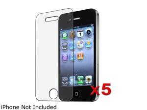 Insten Transparent 5 x Anti-Glare Matte Screen Protector Compatible with Apple iPhone 4 / 4s 1412512