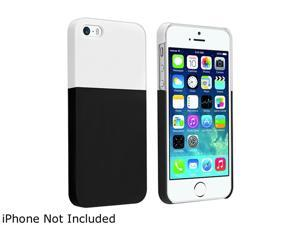 Insten White/ Black Clip-on Case Compatible with Apple iPhone 5/ 5S 1458106
