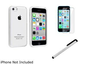 Insten Clear Hard Slim Case with Screen Shield + Stylus Compatible with Apple iPhone 5C 1530169