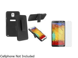 Insten Black Swivel Holster with Stand Case with Colorful Diamond LCD Cover Compatible with Samsung Galaxy Note 31566775
