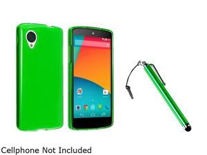 Insten Neon Green TPU Case with Green Stylus Pen Compatible with LG Nexus 5 E980 1594017