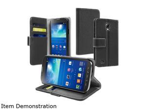 Insten Black Protective Stand Leather Case Cover with Credit Card Slot Compatible with Samsung Galaxy S4 Active 1599482