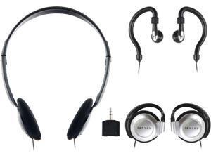 Sentry 3.5mm Headphones with Splitter Plug Pack of 3 Styles 784CD