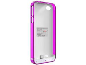 Mota Purple and White Protective Battery Case for iPhone 4/4S AP4-15CP