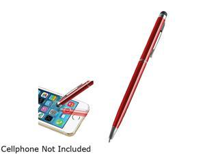 Insten Red 2-in-1 Capacitive Touch Screen Stylus Ballpoint Pen 2029337