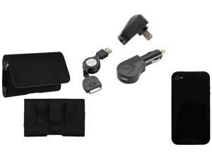 KTA Enterprises Black iPhone 4/4S - 5 in 1 Kit combo bundle KTA 93