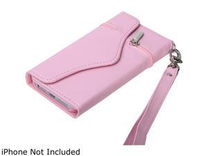 KTA Enterprises Pink PU Leather Case With Wrist Strap For iPhone 5 KTA 223
