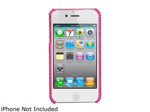 KTA Enterprises Light Pink iPhone 4/4S 3D bling Rhinestone and Pearls cover KTA 147