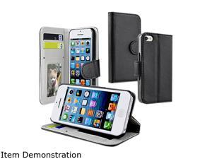 Insten Black Wallet Leather Case with Stand For Apple iPhone 5C 1301181