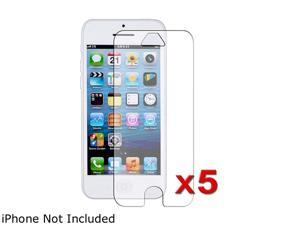 Insten Transparent 5-Pack Anti-Glare LCD Screen Protector for Apple iPhone 5 / 5C / 5S 1306642