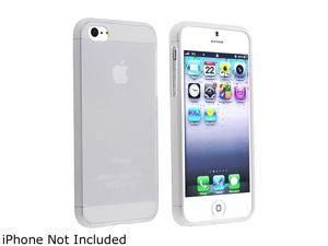 Insten Frost White TPU Case + White In-ear (w/on-off) Stereo Headsets compatible with Apple iPhone 5 1299712
