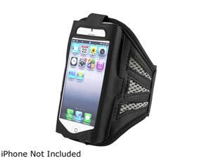 Insten Black/Silver Deluxe ArmBand compatible with Apple iPhone 5 / 5C / 5S 1401122