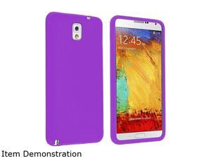 Insten Purple Skin Case Compatible with Samsung Galaxy Note III Note3 N9000 1406155
