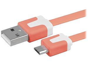 Insten 1667995 Orange 1 x 3.3ft Micro USB [2-in-1] Noodle Cable
