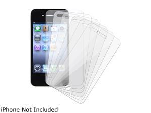 Insten 6-piece Reusable Screen Protector LCD Cover Guard Film Shield Compatible with Apple iPhone 4 AT&T/ Verizon