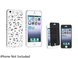 Insten White Bird Nest Rear Snap-on Case And Privacy LCD Filter for Apple iPhone5 / 5s 814719
