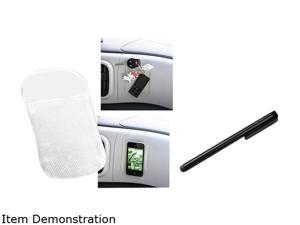 Insten Clear Universal Magic Sticky Anti-Slip Mat+Black Universal Touch Screen Stylus Compatible With HTC EVO 4G One X XL