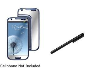 Insten 3X Mirror Screen Protector +Black Universal Touch Screen Stylus Compatible With Samsung Galaxy SIII / S3