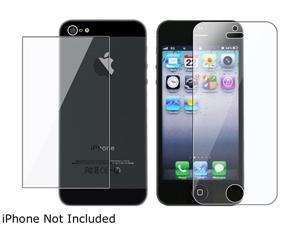 Insten 3x Reusable Front & Back Screen Protector Compatible with Apple iPhone 5 / 5S 804638