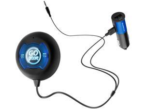 GOgroove BlueGATE CTR Hands-Free Bluetooth Car Kit with NFC Compatibility, Music Control, Voice Command and Volume Amplifier