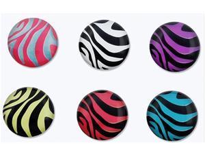 Insten Zebra Patterns 6 Pieces Home Button Sticker for Apple iPhone/ipad/ipod 798685