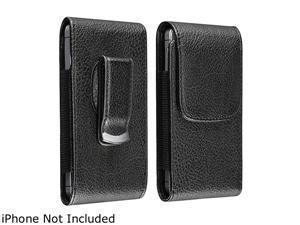 "Insten Black Phone Leather Case w/ Magnetic Flap for the New Apple iPhone 5, 4.76""x2.52""x0.60"" 798727"