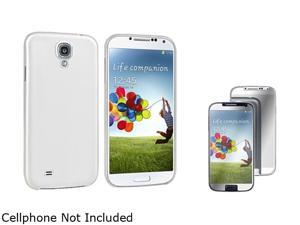 Insten Clear White Ultra Slim Case + Mirror Screen Protector Compatible with Samsung Galaxy S4 / SIV i9500
