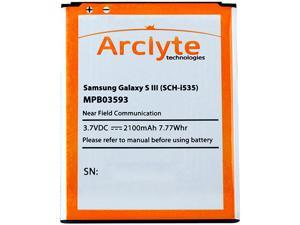 Arclyte Black 2100 mAh Battery for Galazy S III (all models) MPB03593