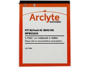 Arclyte Black 1400 mAh Battery for Droid Thunderbolt/Incredible HD etc. MPB03620