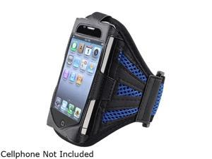 Insten Black / Dark Blue Deluxe ArmBand For Apple iPhone / iPod touch 1848107