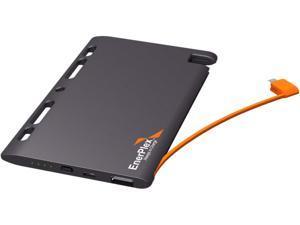 EnerPlex Jumpr Slate Gray 5100 mAh Thin Tethered Micro-USB Portable Battery JU-SLATE-5K