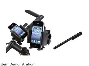 Insten Black Bike Handle Holder Stand + Black Stylus Compatible with Samsung Galaxy S3 i9300 S4 i9500