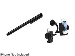 Insten 2x Car DC Holder + Black Stylus Compatible with Samsung Galaxy S3 i9300 i9500 S4 SIV i9100