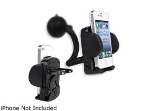 Insten Cellphone & PDA Holder - Windshield Mount Compatible with Blackberry Z10, Black