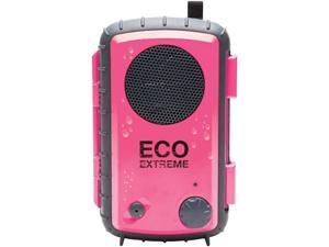 EcoXGear EcoExtreme Pink 3.5mm iPod/iPhone Rugged Waterproof Case With Built-in Speaker GDI-AQCSE106