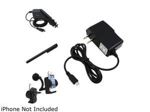 Insten Car Holder + 2 Charger AC + Black Stylus Compatible with Samsung Galaxy SIII i9300 i9500 S4 SIV