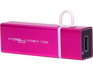 MiPow Power Tube Pink 3000 mAh Portable Battery SP3000-PK