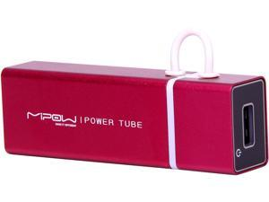 MiPow Power Tube Red 4000 mAh Portable Battery SP4000-RD