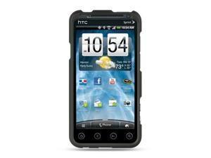 HTC EVO 3D Black Crystal Rubberized Case