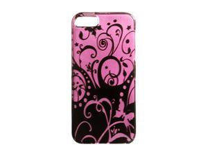 Luxmo Purple Swirl Snap-on Hard Case For iPhone 5 CAIP5PPBKSW