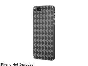Luxmo Clear Checker TPU Crystal Skin Case For iPhone 5 CSIP5CLCK