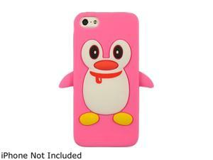 Luxmo Hot Pink Penguin Silicone Soft Skin Case For iPhone 5 SCIP5PENGHP
