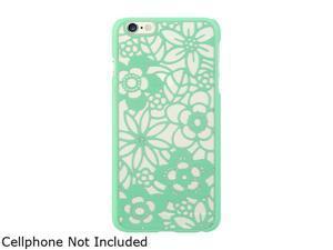 Luxmo Apple iPhone 6 Plus Crystal Case Flower Teal CRIP6LFLOTL