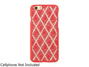 "Luxmo Apple iPhone 6 (4.7"") Crystal Rubber Case Skew Lace - Hot Pink CRIP6SKLACHP"