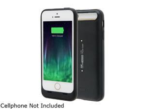 LifeCHARGE InAir Black 2000 mAh Battery Case with Wireless Charging Technology for Apple iPhone 5 / 5s ONT-PWR-35782