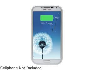 LifeCHARGE InAir White / Silver 2600 mAh Slim Protective Battery Case Cover with Wireless Charging technology for Samsung Galaxy S4 ONT-PWR-35812
