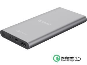 [Qualcomm Certified Quick Charge 3.0] ORICO TS1-BK 10000 mAh QC3.0 & USB-C / Type-C Port Portable Charger External Battery Pack Power Bank for Phones, Tablet and More